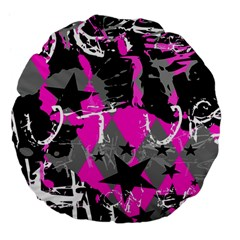 Pink Scene kid Large 18  Premium Flano Round Cushion