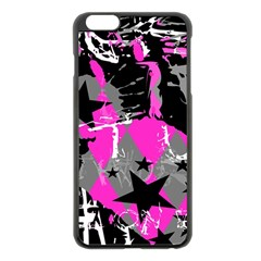 Pink Scene Kid Apple Iphone 6 Plus Black Enamel Case