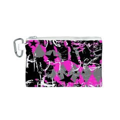 Pink Scene kid Canvas Cosmetic Bag (Small)