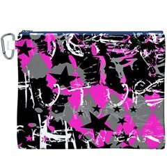 Pink Scene kid Canvas Cosmetic Bag (XXXL)