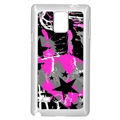 Pink Scene kid Samsung Galaxy Note 4 Case (White)