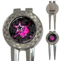 Pink Star Graphic Golf Pitchfork & Ball Marker
