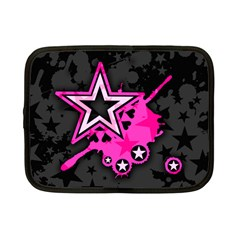 Pink Star Graphic Netbook Sleeve (small)