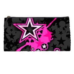 Pink Star Graphic Pencil Case