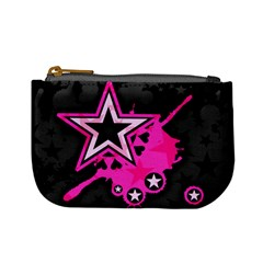 Pink Star Graphic Coin Change Purse