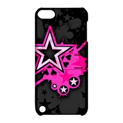 Pink Star Graphic Apple Ipod Touch 5 Hardshell Case With Stand