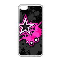 Pink Star Graphic Apple Iphone 5c Seamless Case (white)