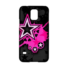 Pink Star Graphic Samsung Galaxy S5 Hardshell Case