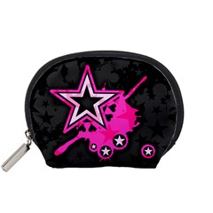 Pink Star Graphic Accessory Pouch (Small)