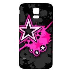 Pink Star Graphic Samsung Galaxy S5 Back Case (White)