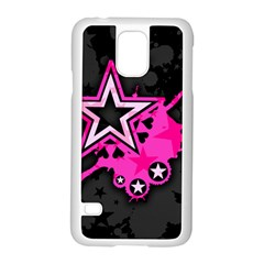 Pink Star Graphic Samsung Galaxy S5 Case (White)