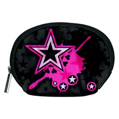 Pink Star Graphic Accessory Pouch (Medium)