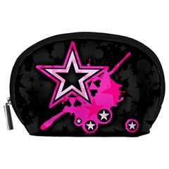 Pink Star Graphic Accessory Pouch (large)