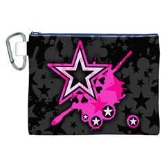 Pink Star Graphic Canvas Cosmetic Bag (XXL)