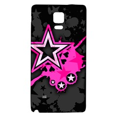 Pink Star Graphic Samsung Note 4 Hardshell Back Case