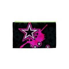 Pink Star Graphic Cosmetic Bag (XS)