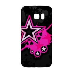 Pink Star Graphic Samsung Galaxy S6 Edge Hardshell Case