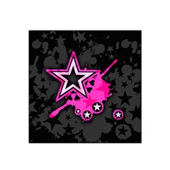 Pink Star Graphic Satin Bandana Scarf