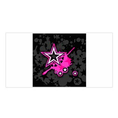 Pink Star Graphic Satin Shawl