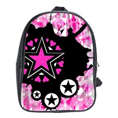 Pink Star Splatter School Bag (xl)