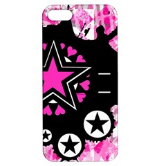 Pink Star Splatter Apple Iphone 5 Hardshell Case With Stand