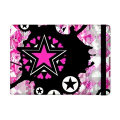 Pink Star Splatter Apple Ipad Mini 2 Flip Case