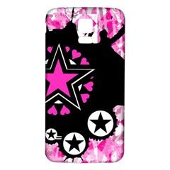 Pink Star Splatter Samsung Galaxy S5 Back Case (white)