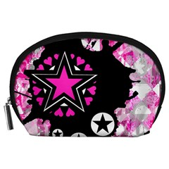 Pink Star Splatter Accessory Pouch (Large)