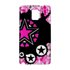Pink Star Splatter Samsung Galaxy Note 4 Hardshell Case