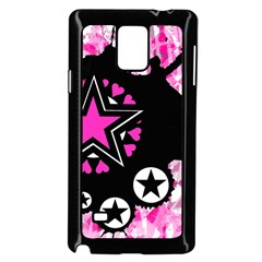 Pink Star Splatter Samsung Galaxy Note 4 Case (Black)