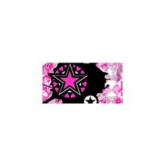 Pink Star Splatter Satin Scarf (Oblong)