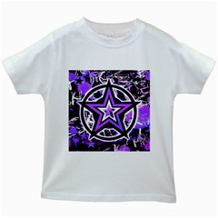 Purple Star Kids T Shirt (white)