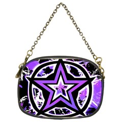 Purple Star Chain Purse (two Sided)