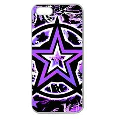 Purple Star Apple Seamless Iphone 5 Case (clear)