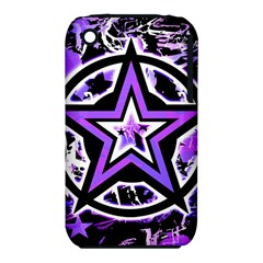 Purple Star Apple iPhone 3G/3GS Hardshell Case (PC+Silicone)