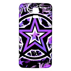 Purple Star Samsung Galaxy S5 Back Case (white)