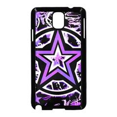 Purple Star Samsung Galaxy Note 3 Neo Hardshell Case (Black)