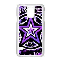 Purple Star Samsung Galaxy S5 Case (White)