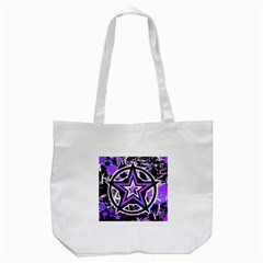 Purple Star Tote Bag (White)