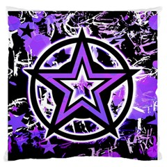 Purple Star Large Flano Cushion Case (Two Sides)