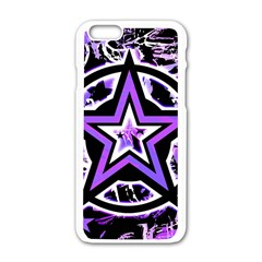 Purple Star Apple iPhone 6 White Enamel Case