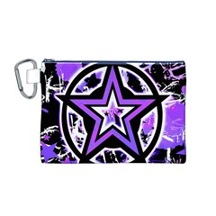 Purple Star Canvas Cosmetic Bag (Medium)