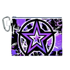 Purple Star Canvas Cosmetic Bag (Large)