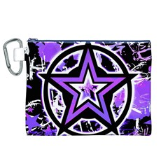 Purple Star Canvas Cosmetic Bag (XL)