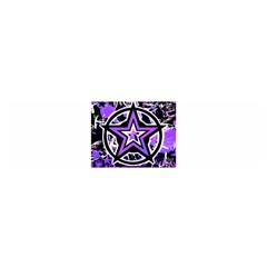 Purple Star Satin Scarf (oblong)