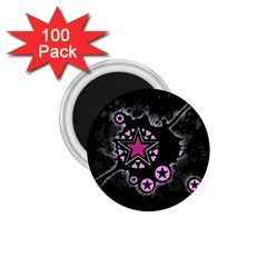 Pink Star Explosion 1 75  Button Magnet (100 Pack)