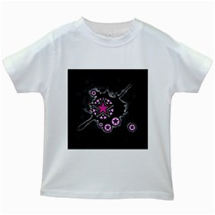 Pink Star Explosion Kids T-shirt (White)