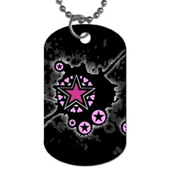 Pink Star Explosion Dog Tag (two Sided)
