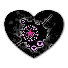 Pink Star Explosion Mouse Pad (heart)