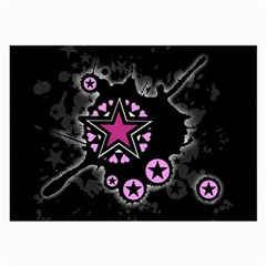 Pink Star Explosion Glasses Cloth (large)